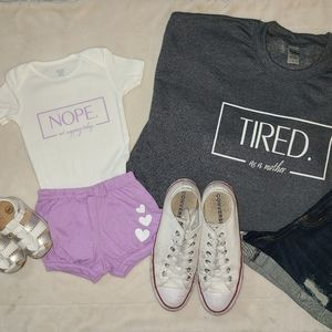 """""""NOPE. not napping today"""" Baby girl or boy onesie"""